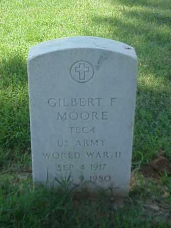 MOORE (VETERAN WWII), GILBERT F - Pulaski County, Arkansas   GILBERT F MOORE (VETERAN WWII) - Arkansas Gravestone Photos