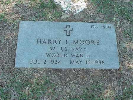 MOORE (VETERAN WWII), HARRY L - Pulaski County, Arkansas | HARRY L MOORE (VETERAN WWII) - Arkansas Gravestone Photos