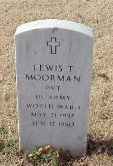 MOORMAN (VETERAN WWI), LEWIS T - Pulaski County, Arkansas | LEWIS T MOORMAN (VETERAN WWI) - Arkansas Gravestone Photos