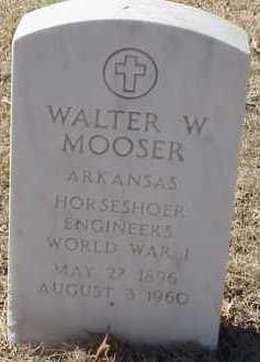 MOOSER  (VETERAN WWI), WALTER W - Pulaski County, Arkansas | WALTER W MOOSER  (VETERAN WWI) - Arkansas Gravestone Photos