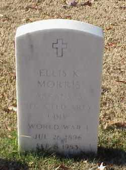 MORRIS (VETERAN WWI), ELLIS K - Pulaski County, Arkansas   ELLIS K MORRIS (VETERAN WWI) - Arkansas Gravestone Photos