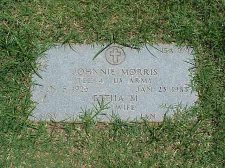MORRIS (VETERAN WWII), JOHNNIE - Pulaski County, Arkansas   JOHNNIE MORRIS (VETERAN WWII) - Arkansas Gravestone Photos