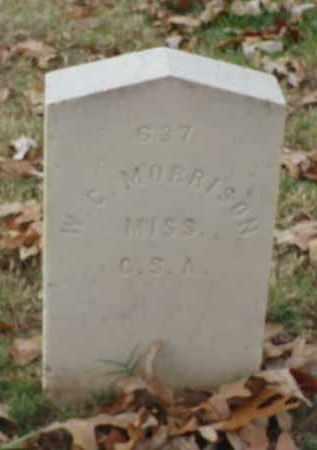 MORRISON (VETERAN CSA), W C - Pulaski County, Arkansas | W C MORRISON (VETERAN CSA) - Arkansas Gravestone Photos