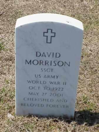 MORRISON (VETERAN WWII), DAVID - Pulaski County, Arkansas | DAVID MORRISON (VETERAN WWII) - Arkansas Gravestone Photos