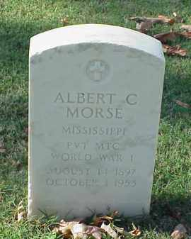 MORSE (VETERAN WWI), ALBERT C - Pulaski County, Arkansas | ALBERT C MORSE (VETERAN WWI) - Arkansas Gravestone Photos