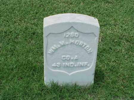 MORTON (VETERAN UNION), WILLIAM M - Pulaski County, Arkansas   WILLIAM M MORTON (VETERAN UNION) - Arkansas Gravestone Photos