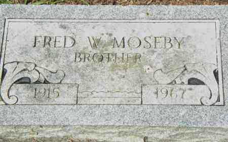 MOSBEY, FRED, W - Pulaski County, Arkansas | FRED, W MOSBEY - Arkansas Gravestone Photos