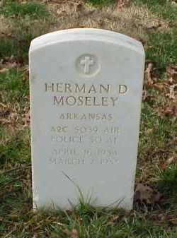 MOSELEY (VETERAN KOR), HERMAN D - Pulaski County, Arkansas | HERMAN D MOSELEY (VETERAN KOR) - Arkansas Gravestone Photos