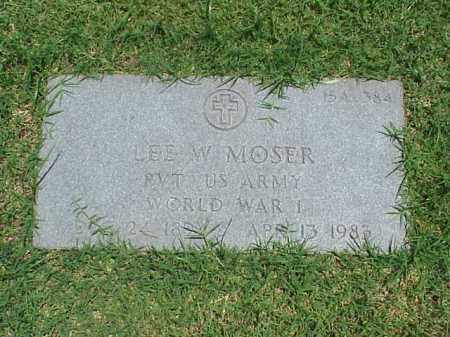 MOSER (VETERAN WWI), LEE W - Pulaski County, Arkansas | LEE W MOSER (VETERAN WWI) - Arkansas Gravestone Photos