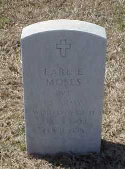 MOSES (VETERAN WWII), EARL E - Pulaski County, Arkansas   EARL E MOSES (VETERAN WWII) - Arkansas Gravestone Photos