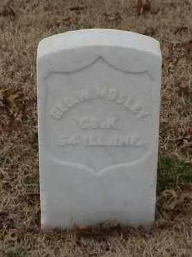 MOSLEY (VETERAN UNION), GEORGE W - Pulaski County, Arkansas | GEORGE W MOSLEY (VETERAN UNION) - Arkansas Gravestone Photos