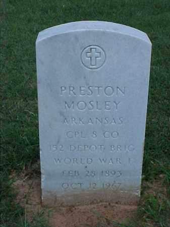 MOSLEY (VETERAN WWI), PRESTON - Pulaski County, Arkansas | PRESTON MOSLEY (VETERAN WWI) - Arkansas Gravestone Photos