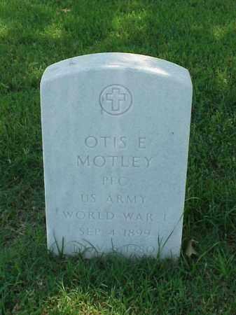 MOTLEY (VETERAN WWI), OTIS E - Pulaski County, Arkansas | OTIS E MOTLEY (VETERAN WWI) - Arkansas Gravestone Photos