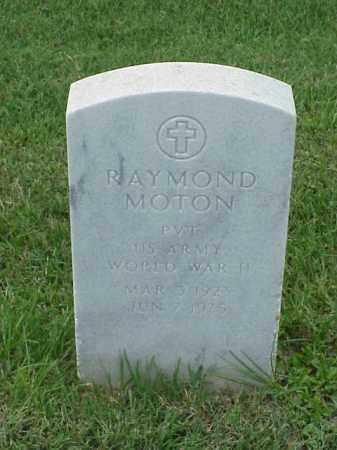 MOTON (VETERAN WWII), RAYMOND - Pulaski County, Arkansas | RAYMOND MOTON (VETERAN WWII) - Arkansas Gravestone Photos