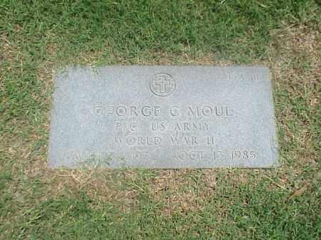 MOUL (VETERAN WWII), GEORGE C - Pulaski County, Arkansas   GEORGE C MOUL (VETERAN WWII) - Arkansas Gravestone Photos