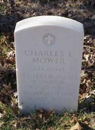 MOWER (VETERAN WWI), CHARLES L - Pulaski County, Arkansas   CHARLES L MOWER (VETERAN WWI) - Arkansas Gravestone Photos