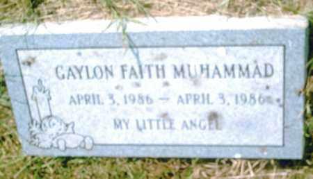 MUHAMMAD, GAYLON FAITH - Pulaski County, Arkansas   GAYLON FAITH MUHAMMAD - Arkansas Gravestone Photos