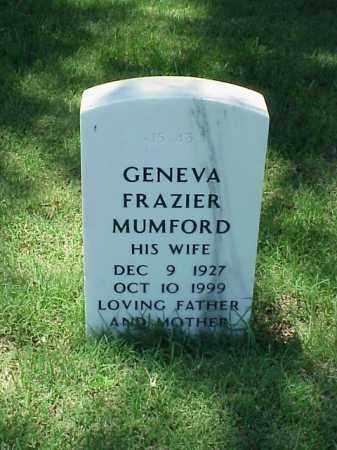 MUMFORD, GENEVA FRAZIER - Pulaski County, Arkansas | GENEVA FRAZIER MUMFORD - Arkansas Gravestone Photos