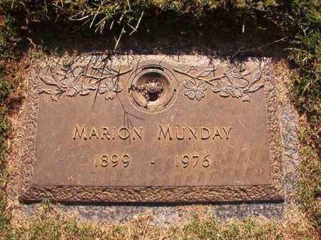MUNDAY, MARION - Pulaski County, Arkansas | MARION MUNDAY - Arkansas Gravestone Photos