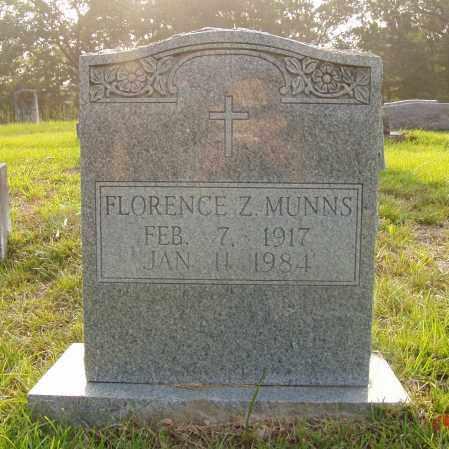 ZUBER MUNNS, FLORENCE ELIZABETH - Pulaski County, Arkansas | FLORENCE ELIZABETH ZUBER MUNNS - Arkansas Gravestone Photos