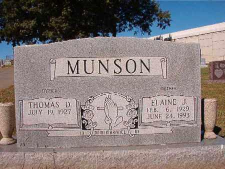 MUNSON, ELAINE J - Pulaski County, Arkansas   ELAINE J MUNSON - Arkansas Gravestone Photos