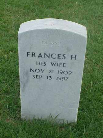 MUNTZEL, FRANCES H - Pulaski County, Arkansas | FRANCES H MUNTZEL - Arkansas Gravestone Photos