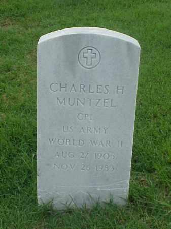 MUNTZEL (VETERAN WWII), CHARLES H - Pulaski County, Arkansas | CHARLES H MUNTZEL (VETERAN WWII) - Arkansas Gravestone Photos