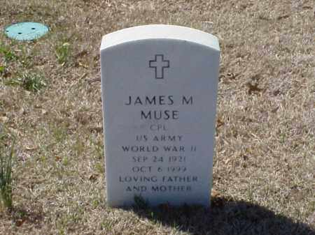 MUSE (VETERAN WWII), JAMES M - Pulaski County, Arkansas | JAMES M MUSE (VETERAN WWII) - Arkansas Gravestone Photos