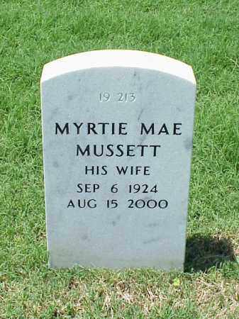 MUSSETT, MYRTIE MAE - Pulaski County, Arkansas | MYRTIE MAE MUSSETT - Arkansas Gravestone Photos