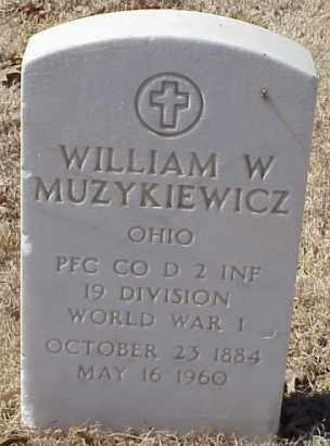 MUZYKIEWICZ  (VETERAN WWI), WILLIAM W - Pulaski County, Arkansas | WILLIAM W MUZYKIEWICZ  (VETERAN WWI) - Arkansas Gravestone Photos