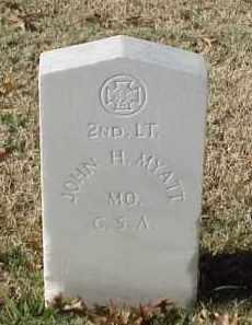 MYATT (VETERAN CSA), JOHN H - Pulaski County, Arkansas   JOHN H MYATT (VETERAN CSA) - Arkansas Gravestone Photos