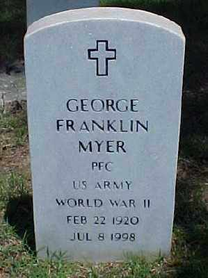 MYER (VETERAN WWII), GEORGE FRANKLIN - Pulaski County, Arkansas | GEORGE FRANKLIN MYER (VETERAN WWII) - Arkansas Gravestone Photos