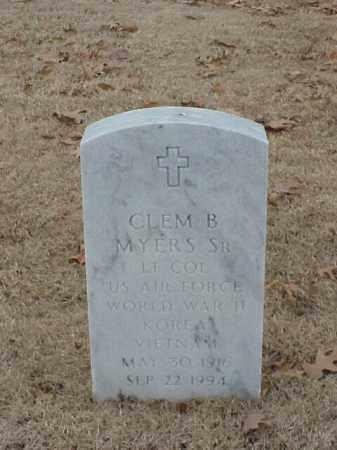 MYERS, SR (VETERAN 3 WARS), CLEM B - Pulaski County, Arkansas | CLEM B MYERS, SR (VETERAN 3 WARS) - Arkansas Gravestone Photos