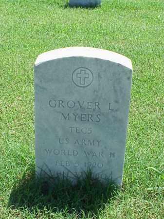 MYERS (VETERAN WWII), GROVER L - Pulaski County, Arkansas | GROVER L MYERS (VETERAN WWII) - Arkansas Gravestone Photos