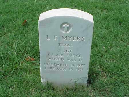 MYERS (VETERAN WWII), L E - Pulaski County, Arkansas | L E MYERS (VETERAN WWII) - Arkansas Gravestone Photos