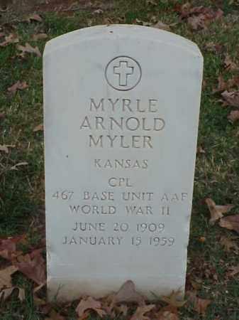 MYLER (VETERAN WWII), MYRLE ARNOLD - Pulaski County, Arkansas | MYRLE ARNOLD MYLER (VETERAN WWII) - Arkansas Gravestone Photos