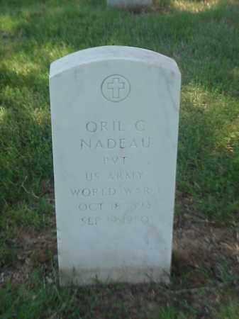 NADEAU (VETERAN WWI), ORIL C - Pulaski County, Arkansas | ORIL C NADEAU (VETERAN WWI) - Arkansas Gravestone Photos