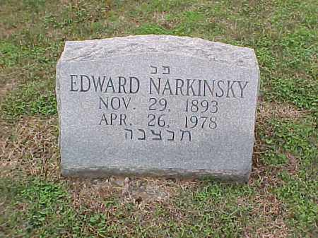 NARKINSKY, EDWARD - Pulaski County, Arkansas   EDWARD NARKINSKY - Arkansas Gravestone Photos