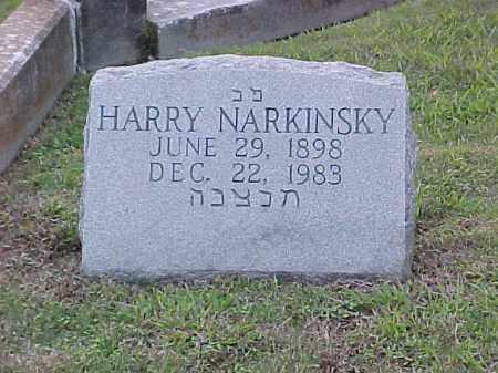 NARKINSKY, HARRY - Pulaski County, Arkansas | HARRY NARKINSKY - Arkansas Gravestone Photos