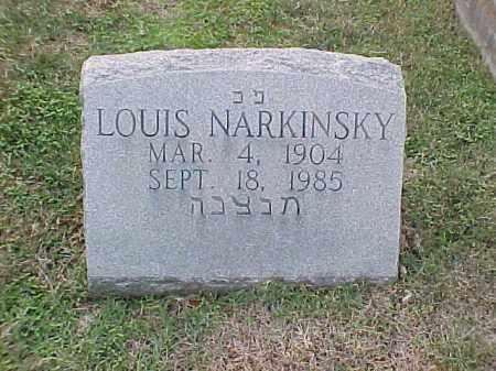 NARKINSKY, LOUIS - Pulaski County, Arkansas | LOUIS NARKINSKY - Arkansas Gravestone Photos