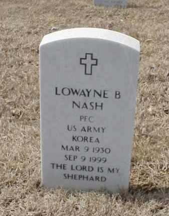 NASH  (VETERAN  KOR), LOWAYNE B - Pulaski County, Arkansas   LOWAYNE B NASH  (VETERAN  KOR) - Arkansas Gravestone Photos