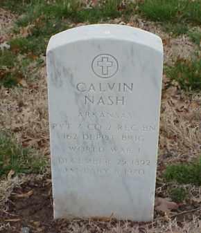 NASH  (VETERAN WWI), CALVIN - Pulaski County, Arkansas | CALVIN NASH  (VETERAN WWI) - Arkansas Gravestone Photos