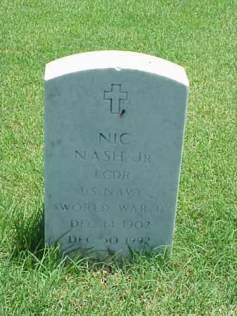 NASH, JR (VETERAN WWII), NIC - Pulaski County, Arkansas | NIC NASH, JR (VETERAN WWII) - Arkansas Gravestone Photos
