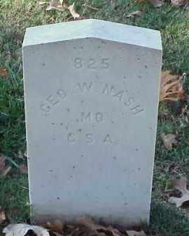 NASH (VETERAN CSA), GEORGE W - Pulaski County, Arkansas | GEORGE W NASH (VETERAN CSA) - Arkansas Gravestone Photos