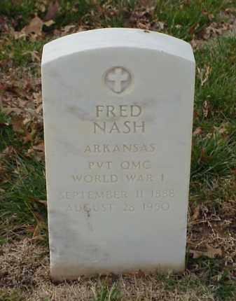 NASH (VETERAN WWI), FRED - Pulaski County, Arkansas | FRED NASH (VETERAN WWI) - Arkansas Gravestone Photos