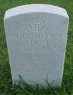 NASH (VETERAN WWI), SOLOMON J - Pulaski County, Arkansas | SOLOMON J NASH (VETERAN WWI) - Arkansas Gravestone Photos