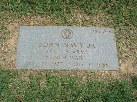 NAVY, JR (VETERAN WWII), JOHN - Pulaski County, Arkansas | JOHN NAVY, JR (VETERAN WWII) - Arkansas Gravestone Photos