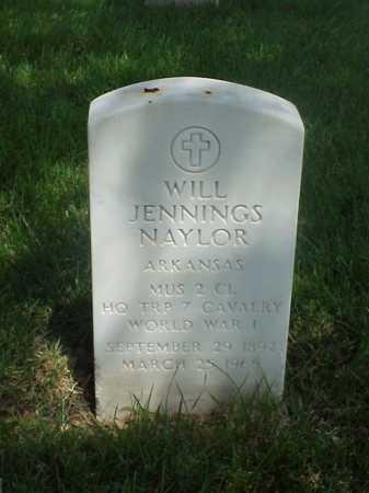 NAYLOR (VETERAN WWI), WILL JENNINGS - Pulaski County, Arkansas   WILL JENNINGS NAYLOR (VETERAN WWI) - Arkansas Gravestone Photos