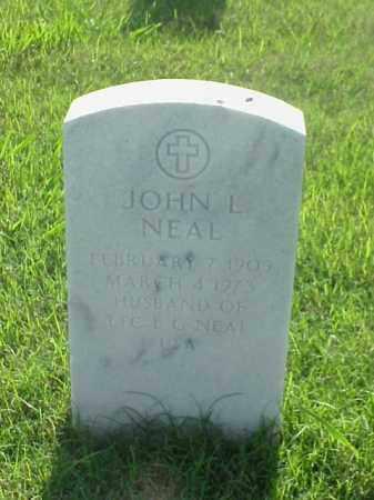 NEAL, JOHN L - Pulaski County, Arkansas | JOHN L NEAL - Arkansas Gravestone Photos