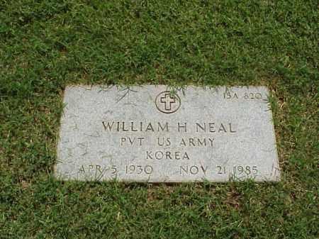 NEAL (VETERAN KOR), WILLIAM H - Pulaski County, Arkansas   WILLIAM H NEAL (VETERAN KOR) - Arkansas Gravestone Photos